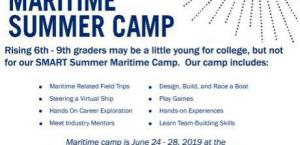 2019 SMART Summer Maritime Camp REGISTRATION!